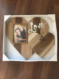 Rustic picture frame and memo clip