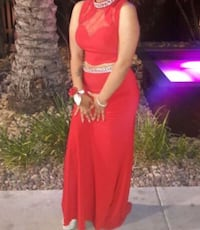 Red two piece prom dress size Small Las Vegas, 89115