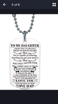 To daughter love dad dog tag Ajax, L1S 5C7
