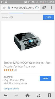 Brand New MFC-490cw Print,Scan, Copy,Fax