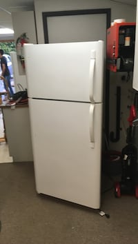white top-mount refrigerator Vancouver, V6R 2H6