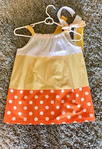 girl's yellow and white polka dot dress Charles Town, 25414