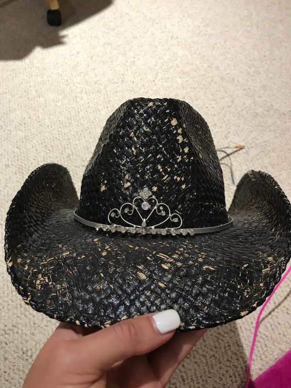 Used NWT peter Grimm black distressed cowboy hat for sale in Kelowna - letgo 2d99bb0c34f2