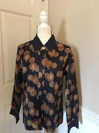 Blue & Gold WEATHERVANE long sleeve blouse Huntingtown, 20639