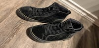 Black velvet and gold Guess high tops size 7 Edmonton, T6H 3G2