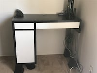 Desk, Ikea, with place for hidden extension cord