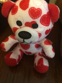 white and red bear plush toy Springfield, 01108