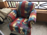 Beautiful, comfortable chair. Excellent condition except one arm got scuffed with small tear. Has been in a home with 2 cats & a dog. San Marcos, 92078