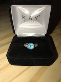 Blue Topaz & Diamond ring  Counce