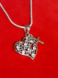 925 Silver heart pendant and snake chain 18 to 20 in Greer, 29651