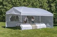 Brand New 10' x 20' Canopy 6 Walls White Gazebo Party Tent Wedding Outdoor Pavilion With Carry Bag New Orleans