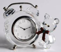"Kris Bear Clock by SWAROVSKI - Excellent Condition!  Theme: Kris Bear  Type:Crystal Figurine  Height: 2.5"" Inches  Diameter Approximate 7.0""  Swarovski-Crystal-Kris-Bear-Table-Clock-Model-212687  No original box available. Well taken care of.  VIEW MY OTH Toronto"