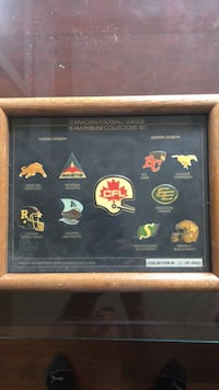 Rare and highly collectable. Stunning collectors item. Framed Canadian Football League pins # 98 of only 2500 ever created. Edmonton, T6R 0B1