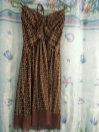 brown and black sleeveless dress South Bend, 46628