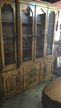 brown wooden framed glass display cabinet Palo Alto, 94306