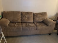 brown fabric 3-seat sofa Centreville, 20121