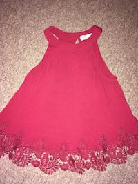 Abercrombie red shirt Xs