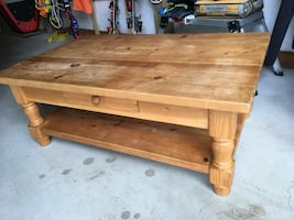 Solid pine coffee table, end table and side table