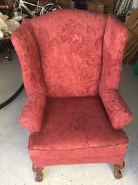 red floral fabric sofa chair New Smyrna Beach, 32168