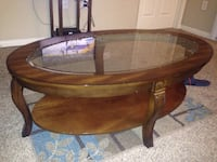 oval brown wooden coffee table Arlington, 76001