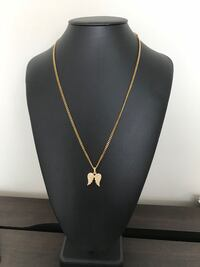 Angel wings with a plated Cuban chain Guelph, N1L 1N2