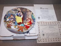 HAPPY ENDING collector plate SNOW WHITE AND SEVEN DWARFS- DISNEY Vaughan