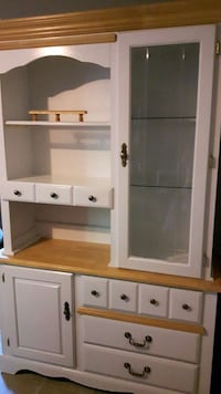 Solid wood chine hutch.  78 inches high 50 inches