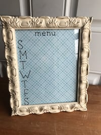 Shabby Chic Distressed Menu Planner/Frame Hagerstown, 21742