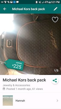 Michael Kors backpack  Mary Esther, 32569