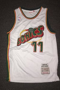 Super Sonics Throwback Basketball Jersey S:L