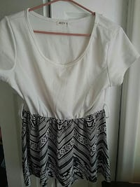 white and black crew neck shirt and mini skirt Barrie, L4M 2G5