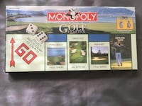 New in shrinkwrap Monopoly Golf Edition game w/ 6 Custom Pewter Tokens Chesapeake, 23320