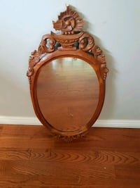 brown wooden framed wall mirror Toronto, M5S