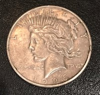 1926-S Silver Peace Dollar Cottonwood, 96022