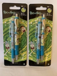 RICK & MORTY ~ GEL PENS 2 pack LOT OF 2 (4 pens total) Levittown