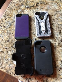 black Otter Box iPhone case Monroe