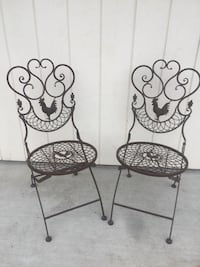 Two Rooster Metal Folding Chairs Washougal, 98671
