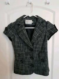 gray and black plaid button-up shirt Mississauga, L4X 1R3