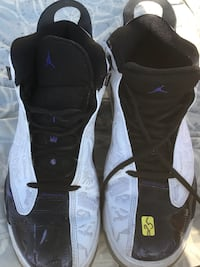 retro white-and-black Air Jordan 12 shoes
