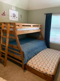 Twin Over Full Bunk with Twin Trundle Drawer WITH Mattresses