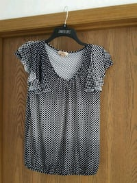 women's black and white polka dot dress Country Club, 64505
