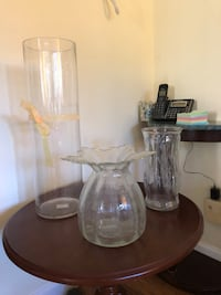 Clear glass vases all three for $15 Glendale, 91208