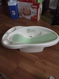 baby's white and green bather supporter Edmonton, T5P 2B1