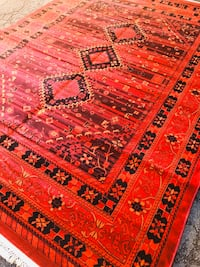 New Bokhara design rug size 8x11 nice red carpet Persian style rugs Burke, 22015
