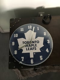 Toronto Maple Leafs Clock 14 Inches by 14 Inches Cochrane, T4C 1K6