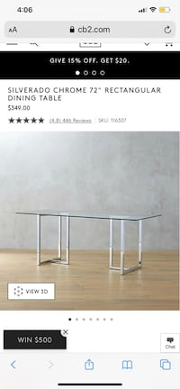 CB2 excellent condition dining table West Hollywood, 90046