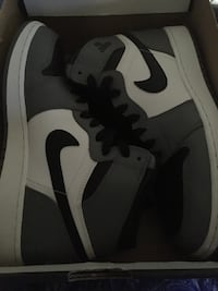 White-and-black air jordan 1 shoes Fort Worth, 76105