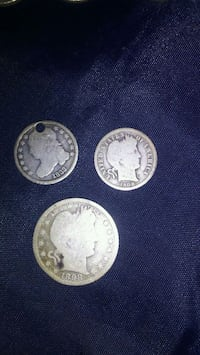 three round silver-colored coins Greer, 29651