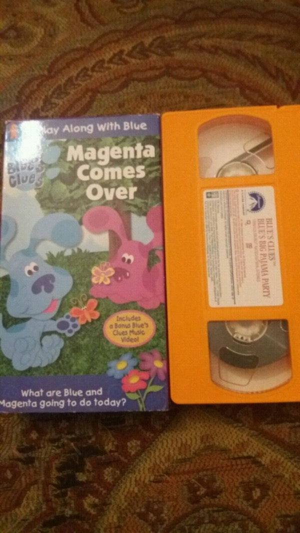 Used Blue S Clues Magenta Comes Over Vhs For Sale In Lewisville