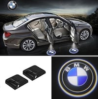 2 Wireless Car Door LED Light Logo for BMW 3750 km